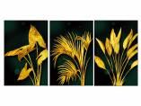 Tranh lá cây màu vàng Bắc Âu Amia 919041