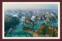 Tranh toàn cảnh Vịnh Hạ Long tuyệt đẹp AmiA 1666