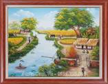 Tranh phong cảnh làng quê khổ nhỏ TSD 483