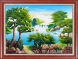 Tranh sơn dầu thác nước rừng cây AmiA TSD 482