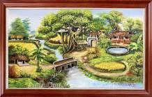 Tranh sơn dầu phong cảnh đầu làng TSD 462