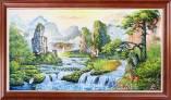 Tranh sơn dầu phong cảnh sơn thủy Trung Quốc TSD 461