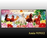Tranh bát mã theo yêu cầu Amia 919112