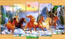 Tranh ngựa phi nước đại trên sông núi AmiA 1688