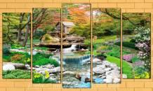 Tranh thiên nhiên suối nước chảy trong rừng AmiA 1693