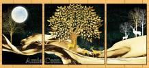 Tranh canvas cho bé cây hươu vàng AmiA 1694