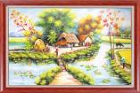 Tranh phong cảnh làng quê sơn dầu AmiA TSD 531