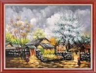 Tranh mùa Xuân Tây Bắc khổ nhỏ sơn dầu AmiA TSD 533B