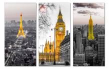 Bộ tranh 3 tòa tháp nổi tiếng Châu Âu AmiA 1708