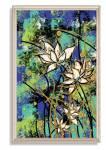Tranh hoa Sen nghệ thuật khổ đứng đẹp canvas AmiA 1745