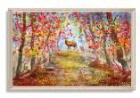 Tranh canvas hươu trong rừng mùa Thu AmiA 1750