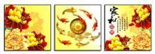 Tranh cá chép vàng bộ 3 tấm ý nghĩa AmiA 1770