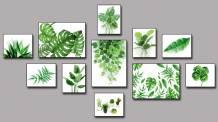 Bộ tranh lá cây nhiệt đới 11 tấm AmiA 1792