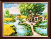 Buc-tranh-phong-canh-lang-que-kho-nho-Amia-TSD-547