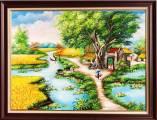 Bức tranh phong cảnh làng quê khổ nhỏ Amia TSD 547