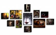 Bộ tranh rượu vang sang trọng 11 tấm AmiA 1793