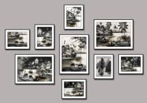 Tranh đen trắng quê hương Việt Nam 9 tấm AmiA 1788