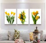 Tranh hoa tulip vàng Amia 919115