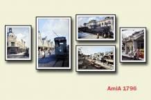 Bộ tranh treo tường phố cổ Hà Nội đẹp sang trọng AmiA 1796