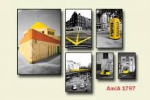 Bộ tranh chủ đề nước ngoài ghép bộ nhiều tấm AmiA 1797