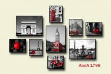 Bộ tranh chủ đề Châu Âu ghép bộ AmiA 1798