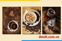 Tranh treo tường quán cafe đẹp hiện đại AmiA 1823