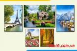 Bộ tranh canvas phong cảnh Châu Âu đẹp AmiA 1829