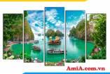 Bức tranh phong cảnh Vịnh Hạ Long đẹp tuyệt vời AmiA 1850
