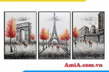 Bộ tranh canvas chủ đề Châu Âu đẹp sang trọng AmiA 1852