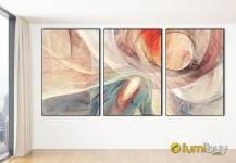 Bộ tranh canvas nghệ thuật ghép 3 tấm đẹp hiện đại AmiA 1875