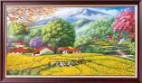 Tranh sơn dầu mùa màng bội thu đồng lúa chín TSD 553