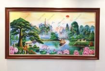 Bức tranh phong cảnh sơn thủy hữu tình vẽ tay TSD 565