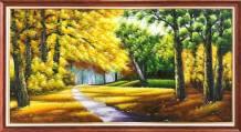Tranh sơn dầu phong cảnh mùa thu rừng cây TSD 571