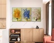 Bộ tranh bình hoa cam xanh trắng AmiA 1905
