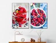 Tranh phòng ăn đẹp trái mâm xôi đỏ mọng AmiA 1912