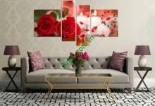 10 mẫu tranh hoa hồng đẹp phù hợp làm tranh treo phòng khách
