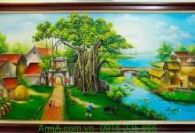 8 mẫu tranh sơn dầu hoa mẫu đơn cực đẹp tại AmiA Hà Nội