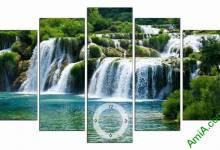 Tranh thác nước phong thủy -- 49 mẫu tranh đẹp