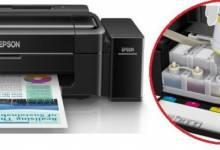 Đặt lại bộ đếm mực thải của máy in Epson L301
