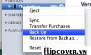 Hướng dẫn xóa Backup trên iTunes