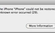 Khắc phục lỗi 29 restore iPhone