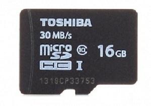 Thẻ nhớ MicroSDHC Toshiba 16GB UHS-I