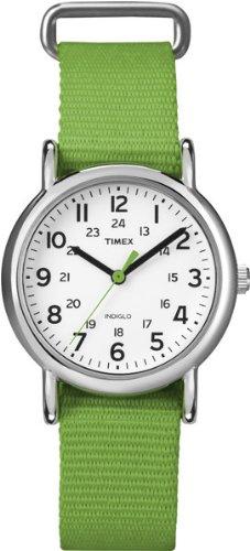 Timex Women's T2N835 Weekender Green