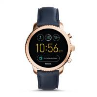 FOSSIL-Q-EXPLORIST-GOLD-NAVY-LEATHER