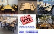 Khuyến mại giảm giá bàn ghế cho nhà hàng, quán ăn