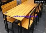 Bàn gế chân sắt cho quán ăn, nhà hàng, quán nhậu BGS2