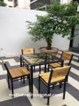 Bàn ghế cafe giá rẻ BGCF12