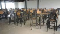 Bộ bàn ghế bar khung sắt mặt gỗ