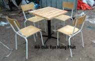 Bộ bàn ghế chân sắt ...