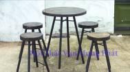 Bộ bàn ghế cafe phon...